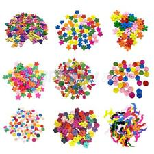 100pcs Colorful Wood Buttons Flower Heart Shape Embellishments for Sewing Craft