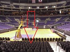 2 Lakers vs Golden State Warriors 5TH ROW FLOOR SEATS 12/18/17 Section 106 Row E