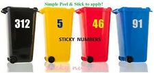 2x Wheelie Bin Numbers Stickers Self Adhesive Stick On.Available, 6 inch numbers