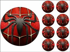 "MARVEL CAKE TOPPERS 8"" ROUND + 2"" CUPCAKE TOPPERS X8 EDIBLE PHOTO ICING ITEM803"