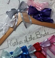 Mother of the Bride or Groom Wedding Dress Hanger choice of 12 bow colors  gift