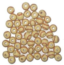 50 Hand-Painted 10mm PERUVIAN CERAMIC SOFTBALL BEADS