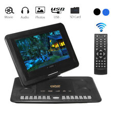13.3'' Portable Recharge Car DVD Player Game Remote Control 270° Swivel Screen