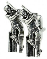 Genuine English Silver Pewter Cricket Gift cuff links by CUFFLINKS DIRECT