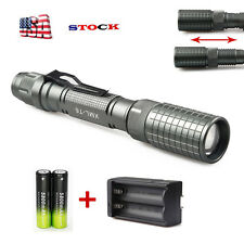 12000LM XML-T6 Zoomable LED Flashlight Torch Brightness Light 18650*ChargerUSA