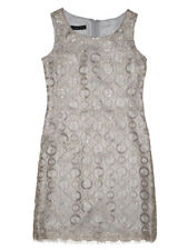 Biscotti Graceful Glam Silver Girls Sheath Sleevless Party Dress Size 7-14 NWT