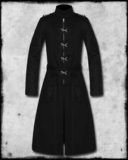 CRIMINAL DAMAGE BLACKLIST BLACK GOTHIC CYBER STEAMPUNK HOOK TRENCH COAT JACKET