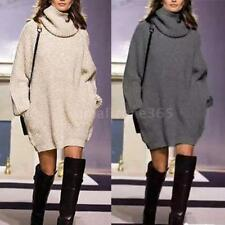 Women Casual Long Sleeve Knitted Pullover Loose Sweater Jumper Top Knitwear N6G7