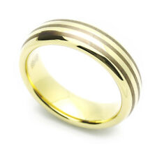 Men 6MM Comfort Fit Tungsten Carbide Wedding Band Zirconium Plated Domed Ring