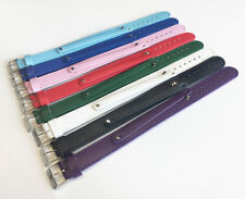 Mixed Color (8+18)mm PU Leather Buckle Wristband Bracelets Fit 8mm Slide Charms