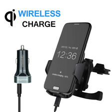Qi Wireless Car Charger Holder Dock for iPhone 8 8+ X Samsung S8 Air Vent Mount