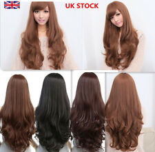Women Cosplay Costume Party Anime Girls Fashion Wavy Curly Long Hair Full Wigs