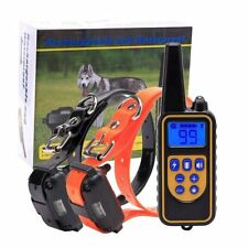Dog Training Shock Collar W/ Remote Control 100 Level Shock Vibration Beep 2IN1