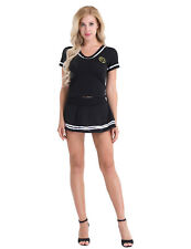 Women Cheerleader Costume Outfit Fancy Dress Students Clothes G-string Lingerie