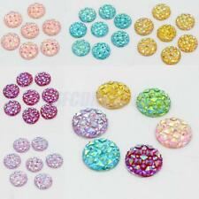50pcs 12mm Round Resin Cabochon Flatback Embellishments for DIY Jewelry Making