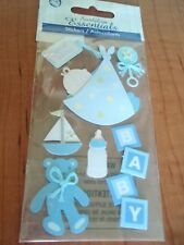BABY BOY SHOWER SPECIAL DELIVERY STORK SUN OUTFIT TEDDY BEAR EMBELLISHM