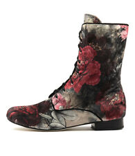 New Gamins Grumpa Black Flower Womens Shoes Casual Boots Ankle