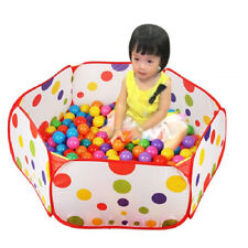 Baby Kids Ball Pit Playpen Toddler Play Tent Sea Ball Pool with Basketball Hoop