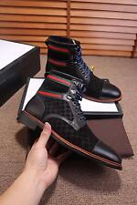 Fashion Men's Punk High Top Lace-Up Shoes Ankle Boots Suede Leather Casual Shoes