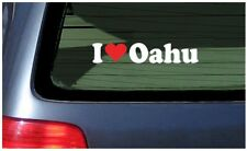 I Love Oahu Sticker Vinyl Decal Car Hawaii Fun Honolulu Waikiki Hawaiian Islands