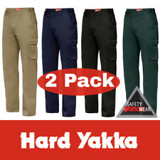2x Hard Yakka Generation Y Gen Y Work Pants Cotton Drill Cargo Y02500 Workwear