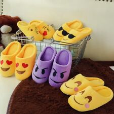 5 Styles Funny QQ Expression Winter Home Indoor Slippers Soft Warm Emoji Unisex