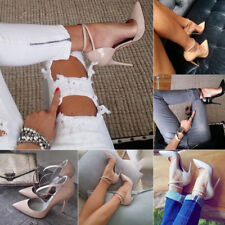 Women High Heels Shoes Pointy Party Sexy Slip on Ankle Strap Plus Size Stiletto