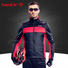 Mens Winter Cycling Jacket Thermal Fleece Windproof Bike Sports Coat Close Fit