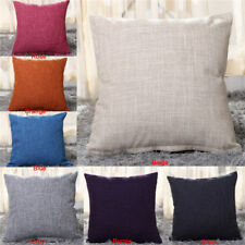 Solid Throw Pillow Case Sofa Waist Cushion Cover Car Home Decor Lounge Square2jq