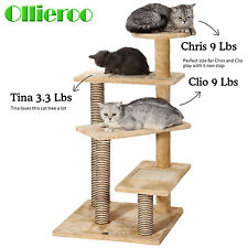 Cat Tree Tower Condo House Furniture Scratch Scratching Post Kitten Pet Play