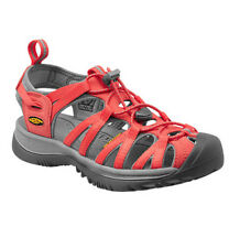 KEEN Whisper Hiking / Walking Sandal - Womens - Hot Coral / Neutral Gray