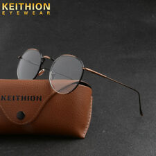 Retro Vintage Round Mens Womens Eyeglasses Frame Spectacles Clear Lens With Box