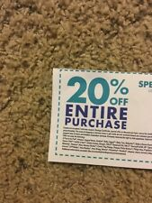 Bed Bath & Beyond 1 Coupon 20% OFF ENTIRE PURCHASE ORIGINAL IN STORE/online