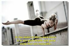 Poster Bodybuilding Men Girl Fitness Workout Quotes Motivational Font Print 035