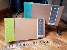Making Memories album 6x9 flocked chipboard mini book D-ring 10 pages w/protect