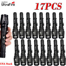 20000LM LED Flashlight Torch  Lamp Light  Zoomable XM-L T6 Focus 18650 Battery@