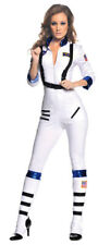 Sexy Astronaut NASA Uniform White Space Girl Jumpsuit Women Costume