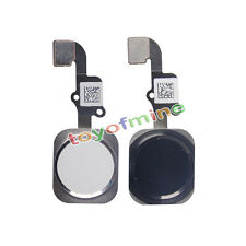 """New Home Menu Button Flex Cable Ribbon Replacement white Black for iPhone 6 4.7"""""""