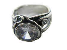 Designed 925 Sterling Silver Ring Shablool solitaire White White CZ Women's Ring