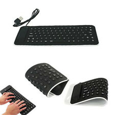 Foldable Flexible Keyboard Silicone Portable USB Mini Roll Up PC Laptop Notebook