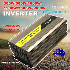 300W/500W/1000W/1500W/3000W/6000W Watt Power Inverter Pure Sine Wave 12V - 240V.