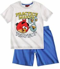Angry Birds T-Shirt and Short Sleeve Pyjama -White/ Red/ Navy Blue