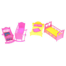 Doll Furniture Rocking Cradle Bed for Barbie Kelly Doll Accessories Girls Z