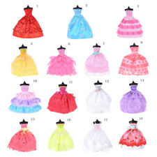 Handmade Party Gown Clothes Wedding Dress Outfits For Barbie Doll Random Gift FT