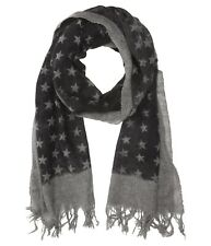 John Varvatos Star USA Men's Border Stars Cashmere Shadow Scarf $158 msrp NWT