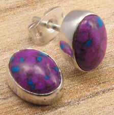 925 Silver Plated Gemstone Stud Earrings, Ethnic Online Jewelry Store