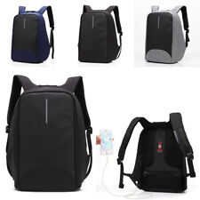 15inch Waterproof Laptop Backpack Rucksack Computer Notebook Bag USB Charge Port
