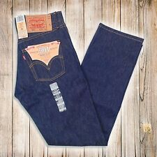Levis 501 Button Fly Jeans Shrink To Fit - Rigid Blue - Many Sizes New With Tags
