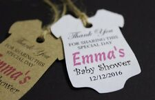 25 Personalised Baby Shower/Christening Favours Tags, New Baby Gift Labels TGS23