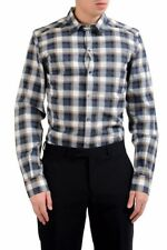 "Dolce & Gabbana ""Gold"" Men's Plaid Dress Shirt Size 15 15.5 16 16.5 17"
